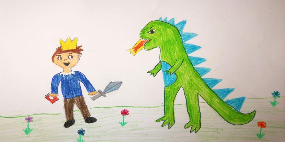 Un cuento para niños sobre el origen del Día del libro: Jorgito Cazadragones
