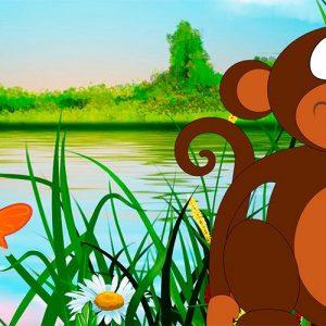 El mono y el pez. Fábula africana para niños sobre la empatía
