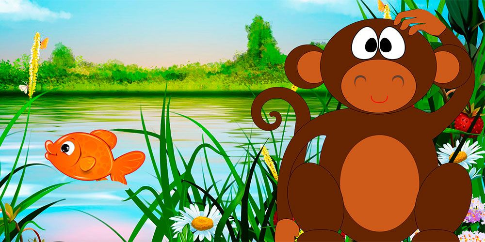 Fábulas con valores para niños: El mono y el pez