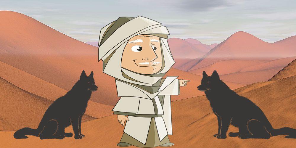 El anciano y los dos perros negros. Cuento sobre la envidia para niños