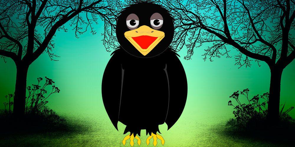 Fábula de Esopo para niños: El cuervo enfermo