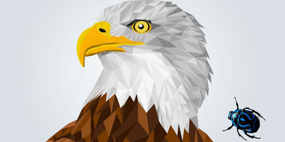 El águila y el escarabajo: una fábula corta sobre la humildad