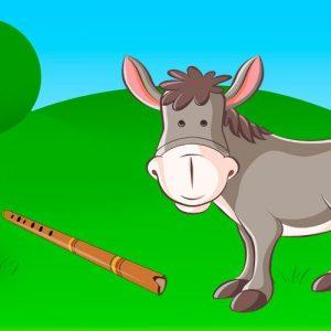 El burro flautista. Fábula de Iriarte para niños sobre la importancia de ir a la escuela