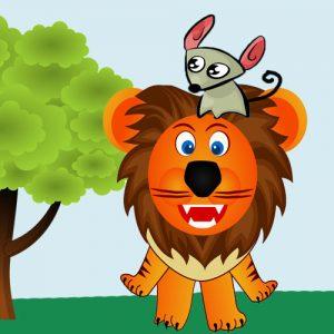 El león y el ratón. Fábula de Esopo sobre la gratitud para los niños