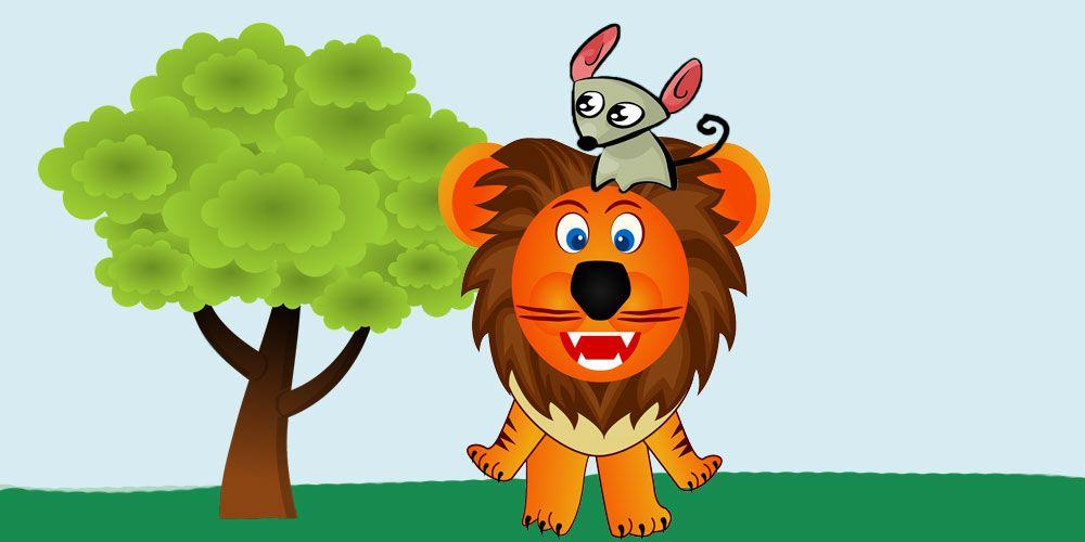 Fábula sobre la gratitud: El león y el ratón