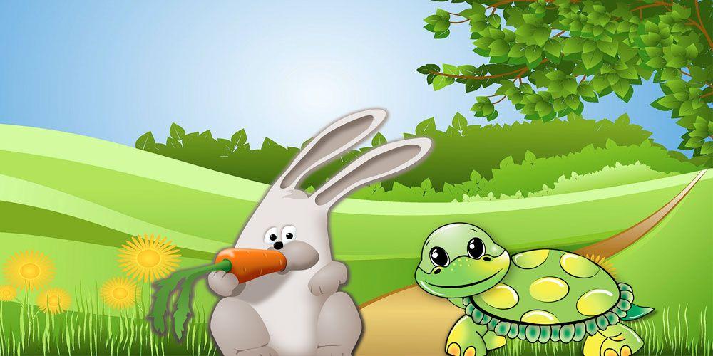 Fábula s con valores para niños: La liebre y la tortuga