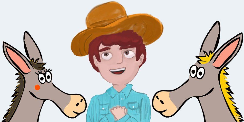 Cuento infantil sobre la envidia: 'La mula, el asno y el campesino'