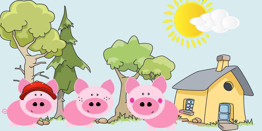 Los tres cerditos: un cuento infantil sobre el esfuerzo