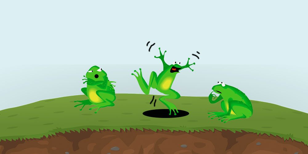 Fábula de La rana sorda