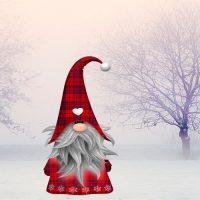 Tomte, el ayudante de Santa Claus en Suecia. Leyenda de Navidad para niños