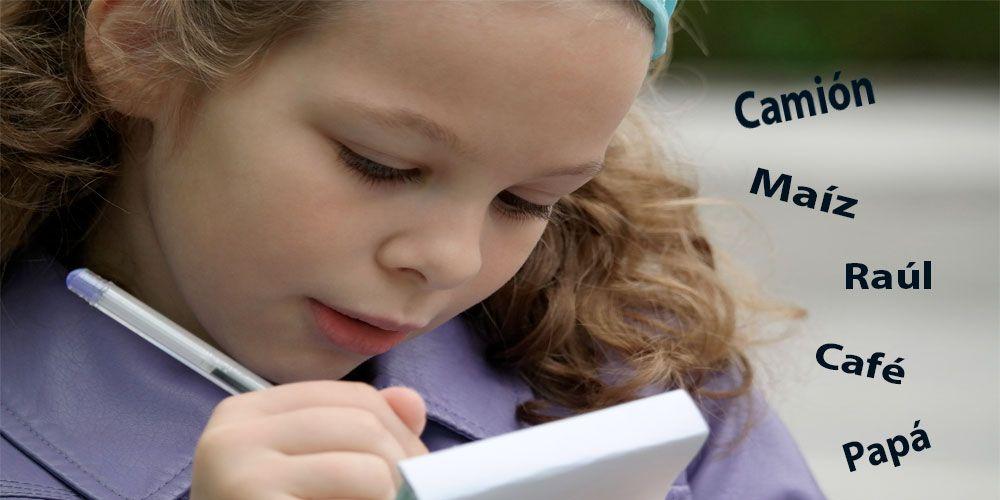 Cincuenta palabras agudas con tilde para niños