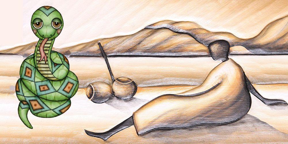 Anansi y la pitón, una leyenda para niños sobre la astucia