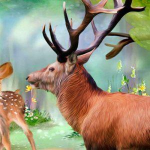 El ciervo y el cervatillo. Fábula sobre el miedo para niños