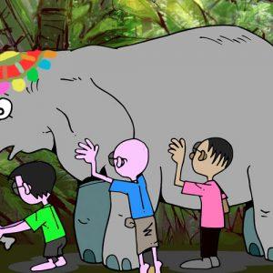 El elefante y los seis ciegos. Leyenda india para niños
