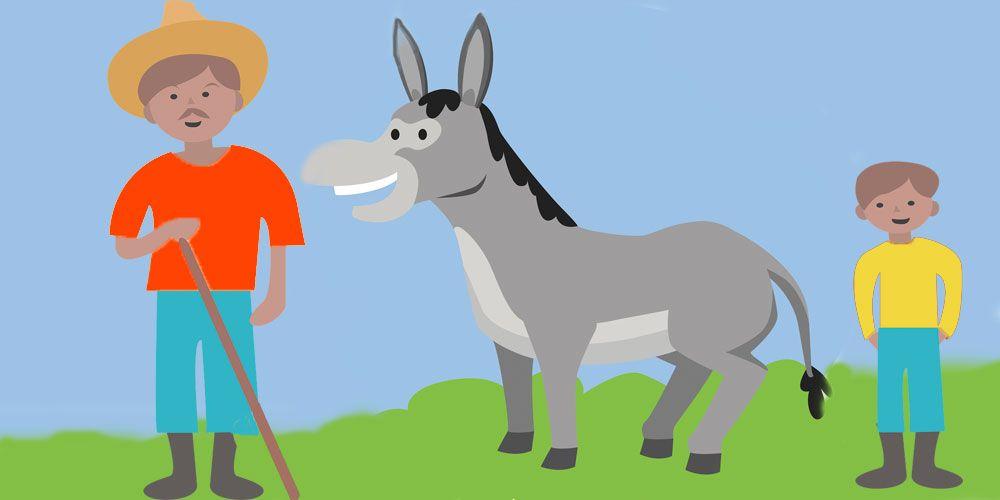 El señor, el niño y el burro, un cuento para niños sobre la confianza en uno mismo