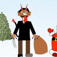Krampus, el ayudante de Santa Claus. Leyenda de Navidad para niños