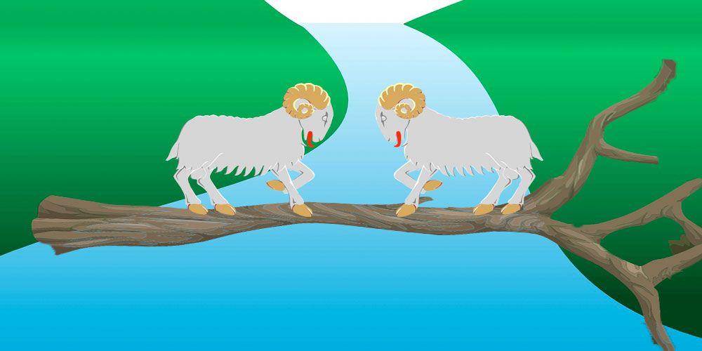 Las dos cabras, una fábula sobre la terquedad para niños y mayores