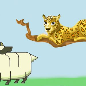El leopardo y el carnero. Leyenda sobre la prudencia para los niños