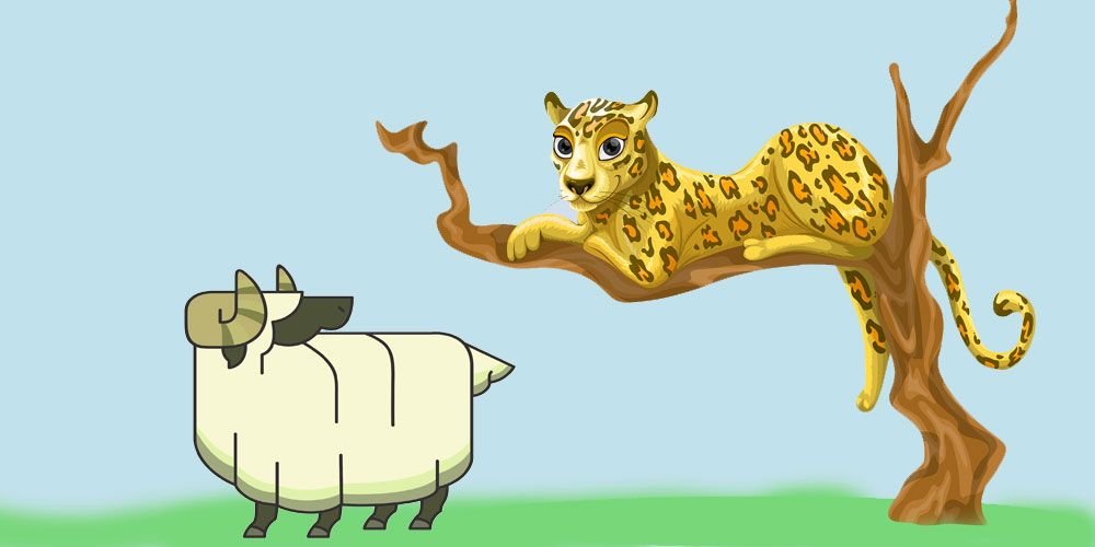 La leyenda del leopardo y el carnero