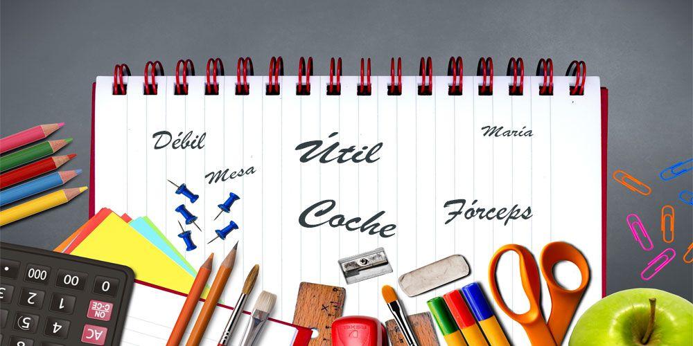 50 palabras llanas con tilde para practicar ortografía