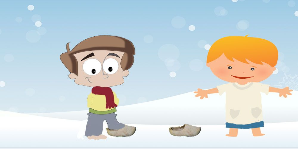 Cuentos de Navidad para niños sobre la caridad: el niño descalzo