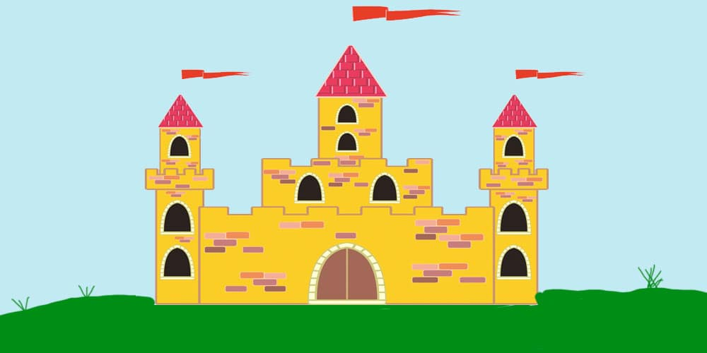 Poesía de Gloria Fuertes para niños: Cómo se dibuja un castillo
