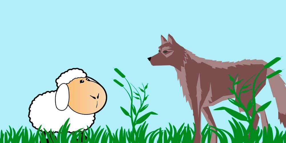 Fábula de Esopo 'El lobo y la oveja', sobre la sinceridad