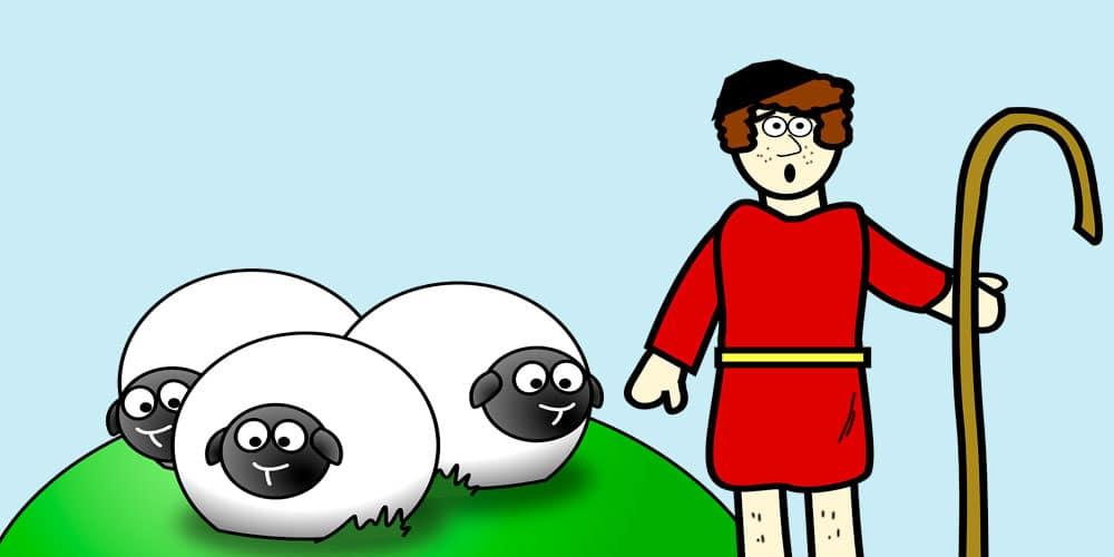 Fábula del pastor mentiroso, una fábula de Esopo para niños