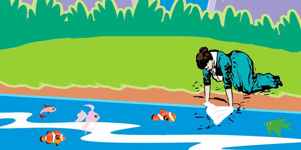 Villancico para niños: Los peces en el río