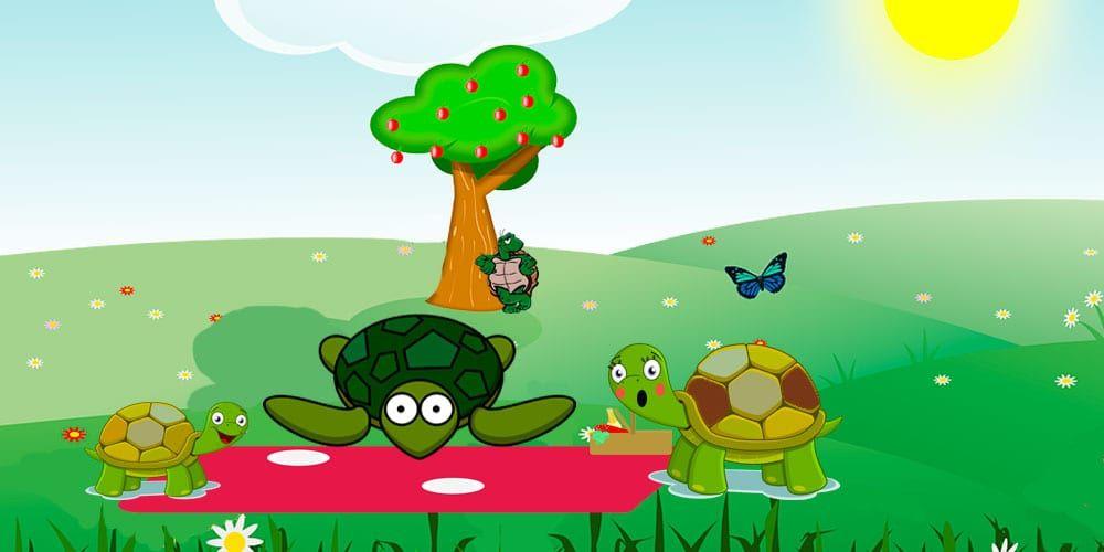 Fábula sobre la desconfianza y los celos: El picnic de las tortugas