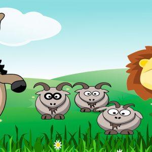 El asno y el león. Fábula sobre la vanidad para niños