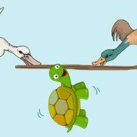 Los patos y la tortuga. Fábula infantil sobre la vanidad<h3> Una fábula de Esopo con valores para lo sniños<h3>