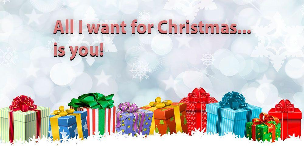 Letras de villancicos en inglés: All I want for Christmas is you