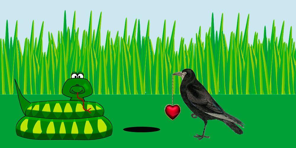 Fábulas con moraleja para niños: El cuervo y la serpiente