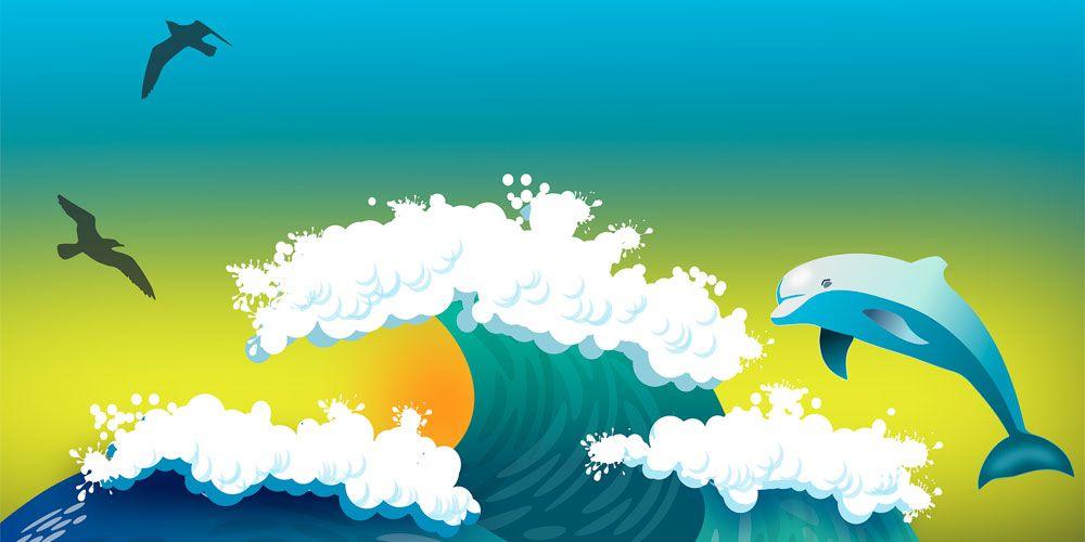 Cuentos para niños de 6 a 9 años: El delfín que quería volar