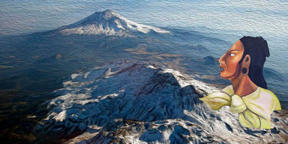 la leyenda del volcán Popocatépetl
