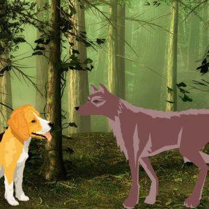 El lobo y el perro. Fábula corta sobre la libertad para niños