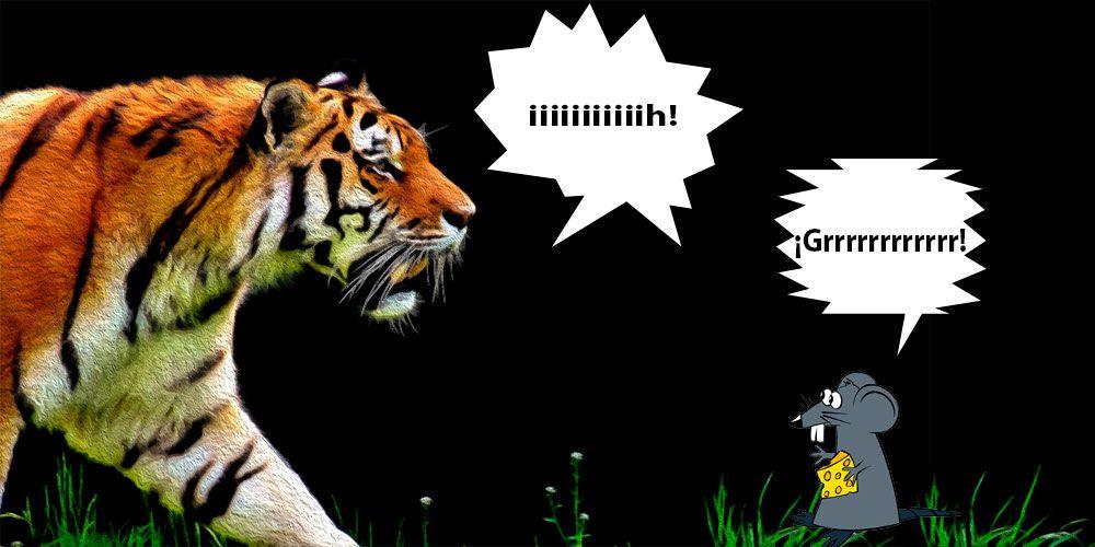 Leyenda Cuando el tigre y el ratón intercambiaron sus voces
