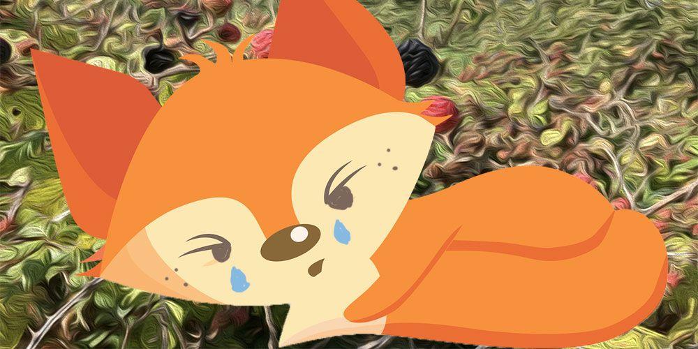 Fábula de Esopo para niños: La zorra y el espino