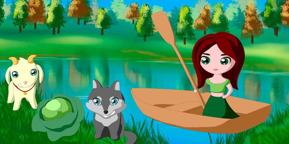 Juegos de lógica para niños y adultos: acertijo del lobo, la cabra y la col