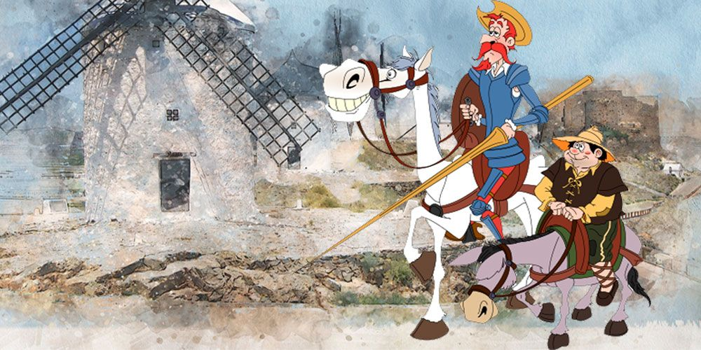 Don Quijote d ela Mancha para niños: Don Quijote es armado caballero