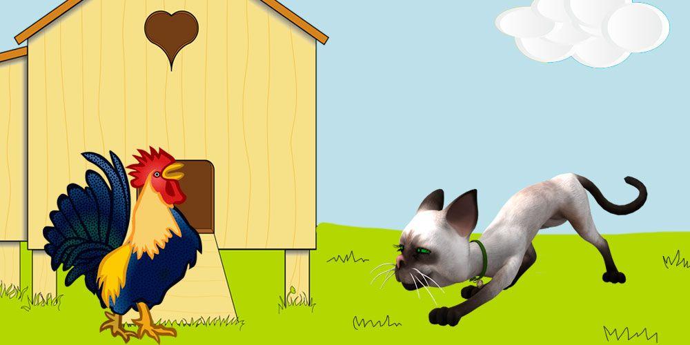 Una fábula de Esopo para niños: El gato y el gallo
