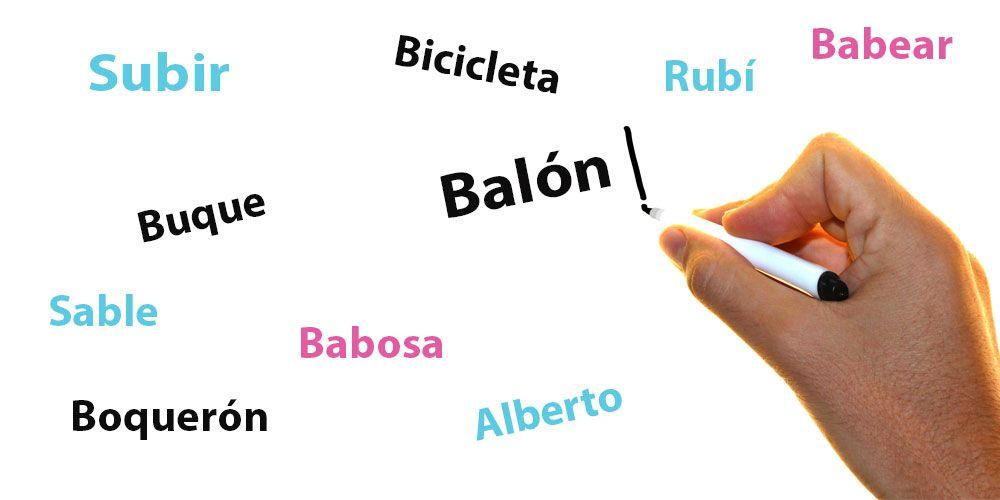 Más de 100 palabras con la letra b para practicar ortografía con los niños