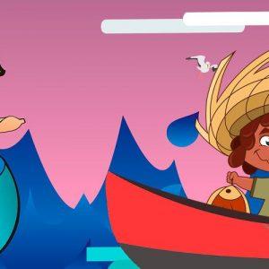 La sirena y el pescador. Leyenda de Honduras para niños