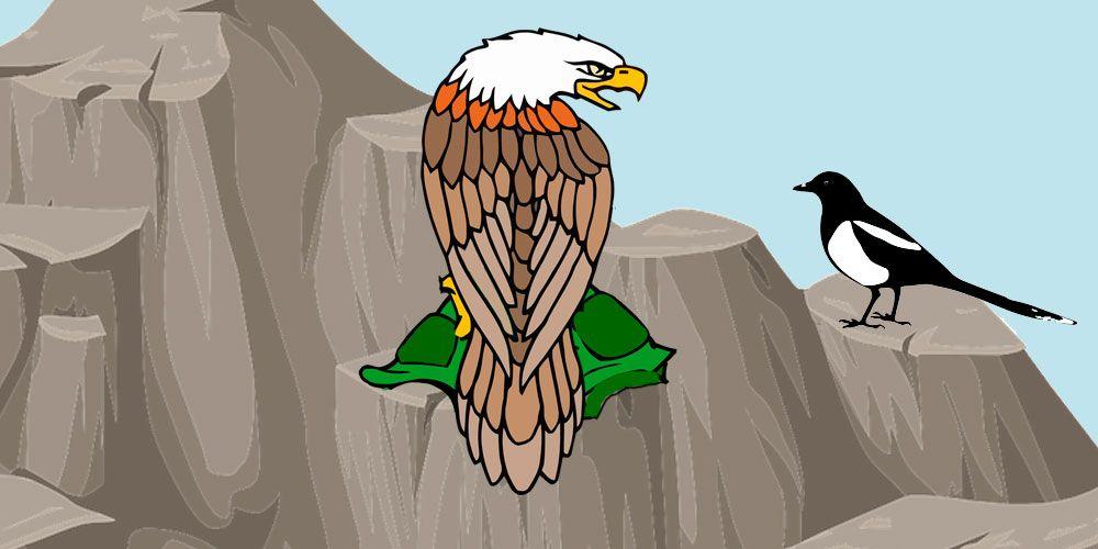 El águila, la corneja y la tortuga, una fábula sobre laprudencia