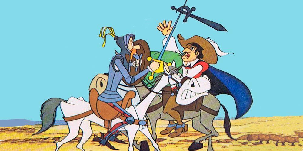 Aventura de Don Quijote y el vizcaíno, Don Quijote de la Mancha para niños