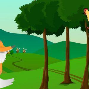 El gallo y la zorra. Fábula para niños sobre el miedo