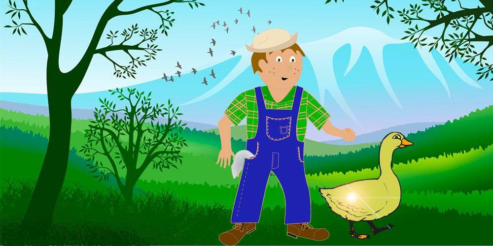 El ganso de oro, un cuento para niños sobre la generosidad y la gratitud