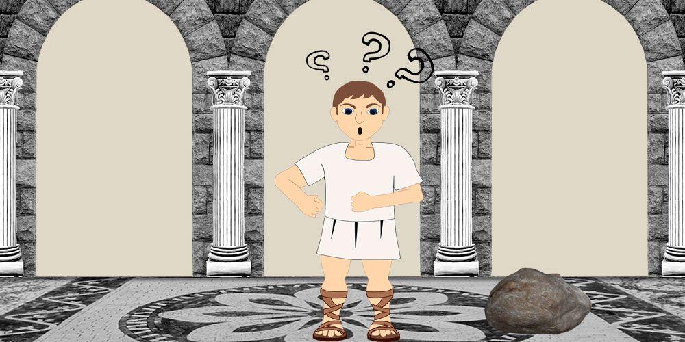 Fábula de Fedro El hombre y la piedra