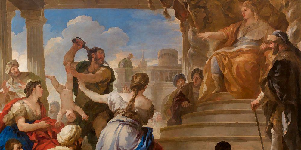 El juicio de Salomón: el rey Salomón y el juicio de las dos madres